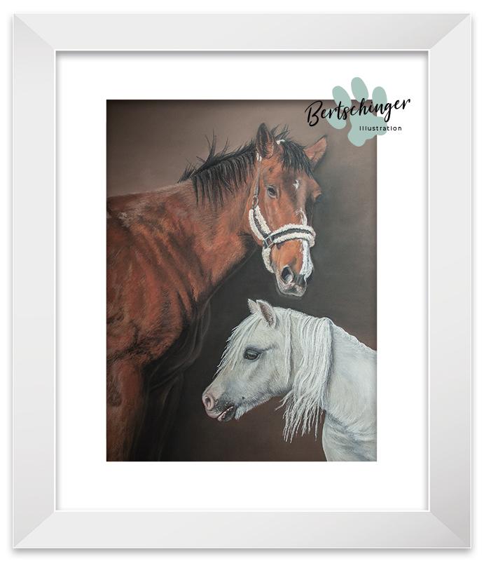 Pferdporträt mit Pastellkreide