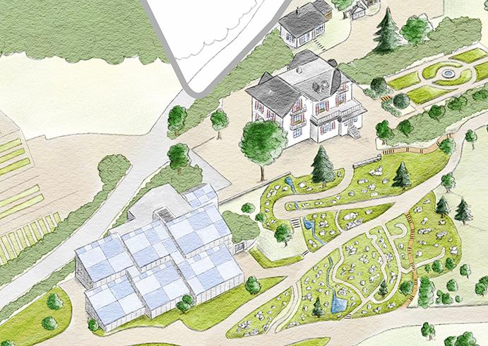 Detail des Gartenplans