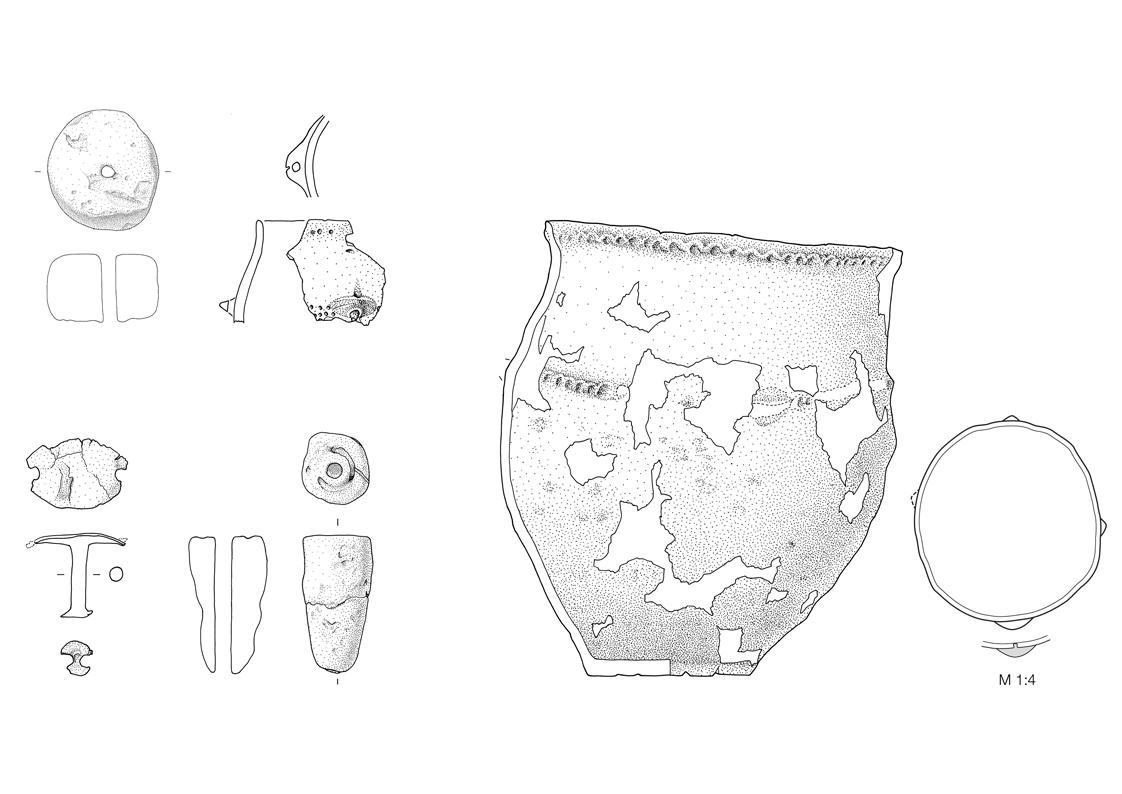 Fundzeichnung - Frühbronzezeit und Eisenzeit
